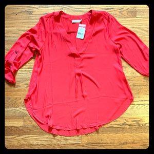 NWT Lush Orangish Red Blouse
